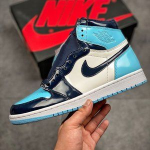 Air Jordan 1 Patent Leather North Carolina Blue